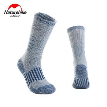 NH挪客户外袜子男女美利奴羊毛袜冬季加厚保暖滑雪袜徒步登山袜子