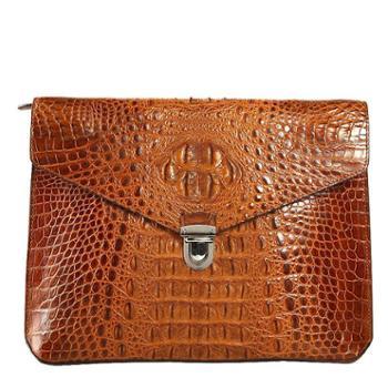 泰国鳄鱼皮男士信封包高档奢华手抓包商务真皮文件包包私人定制