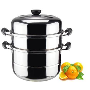 蒸锅不锈钢三层汤锅加厚双层蒸笼多层蒸屉电磁炉锅具包邮