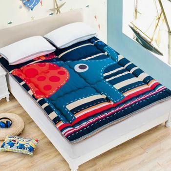 卡通大学生宿舍榻榻米床垫1.5m床上下铺床褥加厚保护垫褥子1.2m