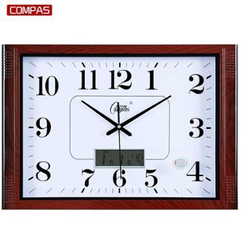 康巴丝客厅静音20寸挂钟大气简约长方形石英钟办公时钟表壁挂钟表