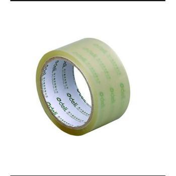 得力封箱胶带30202X1筒共6个宽48mm长50y厚50um超粘宽胶带纸超透明胶带
