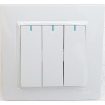 浏阳河电器三位单控开关86型Q5系列雅白色款