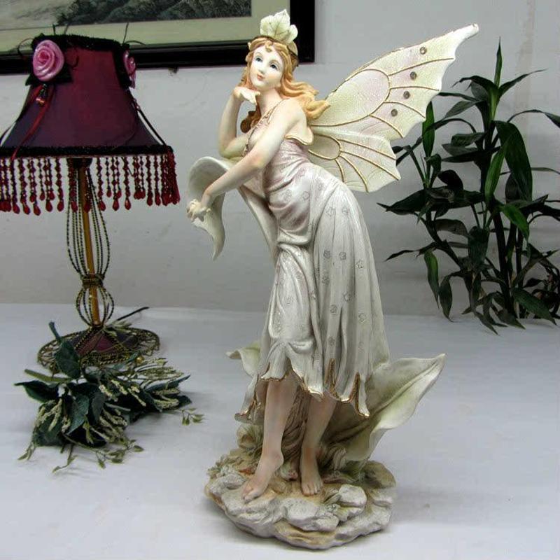 创意时尚欧式家居树脂艺品美女天使花仙子摆设结婚礼品房摆件