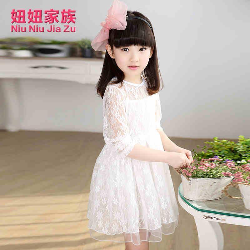 女童2015新款童装韩版女孩可爱春装时尚裙子女大童