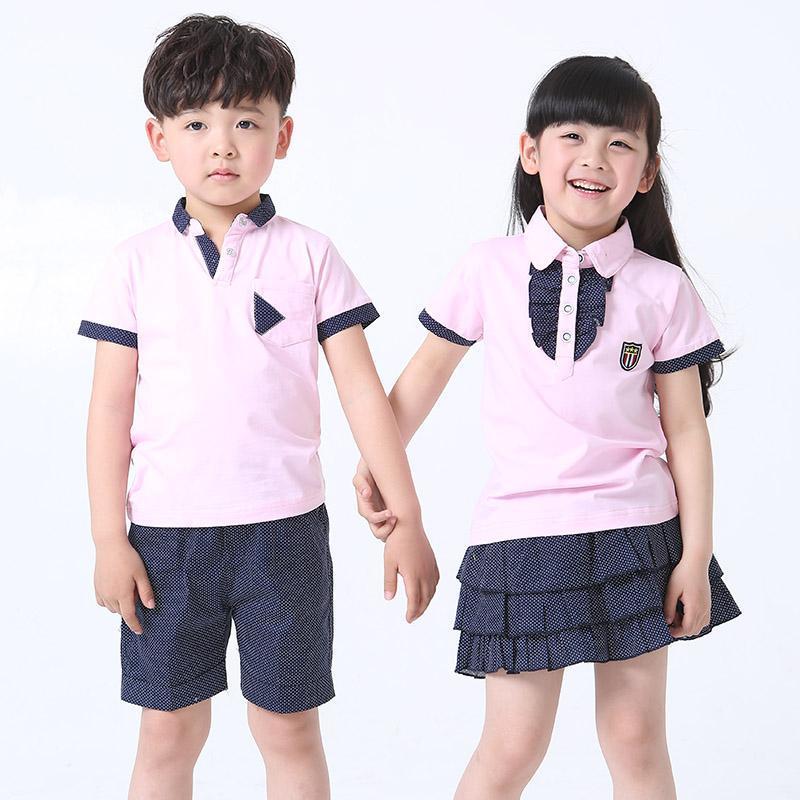 幼儿园园服夏装 小学生校服夏季 儿童班服套装 2015新款男女童装