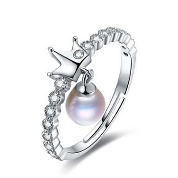 仙蒂瑞拉SANDYRILLA法式时尚款5.5mm贵气珍珠戒指2166