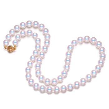 仙蒂瑞拉SANDYRILLA优雅7-8mm精圆强光日本海水珍珠项链附证书