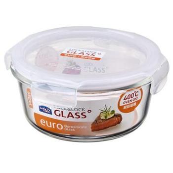 乐扣乐扣 格拉斯耐热玻璃保鲜盒饭盒碗圆形冰箱收纳 650ml LLG831