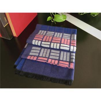 古衾羊绒超大围巾披肩(羊绒55%绢丝35%10%绵)65*185cm