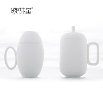 晓味窑精品茶具乾坤杯套装茶具套装磨砂中国白XW-QKB