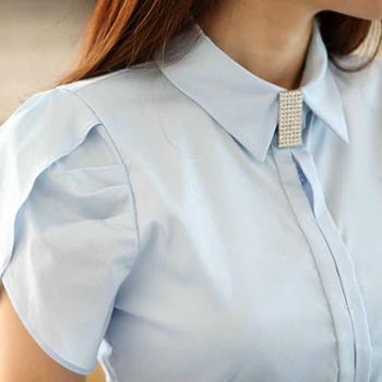 浪漫雅莎春夏季修身职业装女装套装女士正装短袖衬衫套裙OL工装工作服