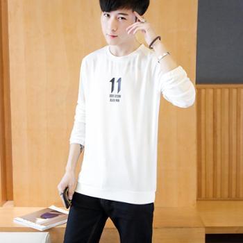 青少年男士长袖T恤修身卫衣休闲男夹克圆领上衣潮SLS-17121-35
