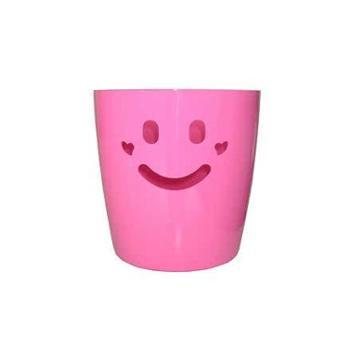 利快粉色笑脸储物筐 6L(橙、粉、黄、蓝色、随机发货)