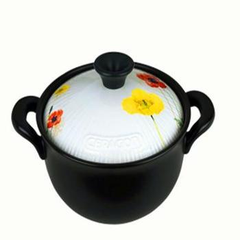 砂龙 圆型粥汤锅耐热陶瓷砂锅容量3L