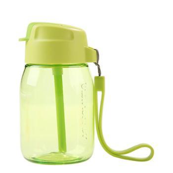 特百惠 CC企鹅杯350ml儿童学生便携防漏吸管杯单个