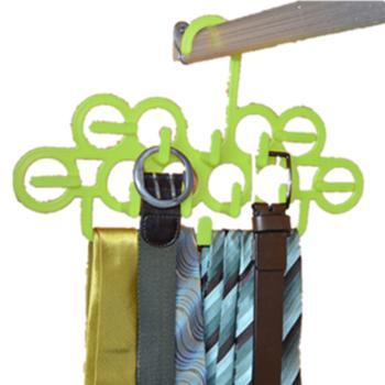 贝加星多功能塑料衣架小物挂钩