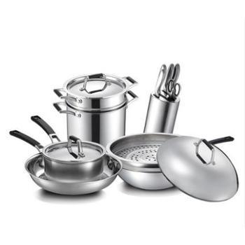 爱仕达PC15A1Q套装组合厨房全套锅具炒锅菜刀具不锈钢套装锅具