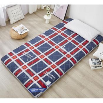 纷缦绗绣加厚学生床垫宿舍上下铺专用榻榻米床褥垫被可折叠