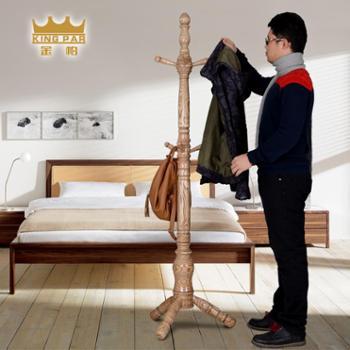 金帕实木衣帽架落地卧室内白蜡木挂衣架创意衣服架