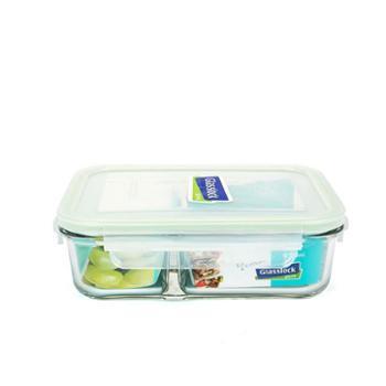 Glasslock耐热钢化玻璃饭盒保鲜盒微波炉饭盒便当盒分隔MCRK092/920ml