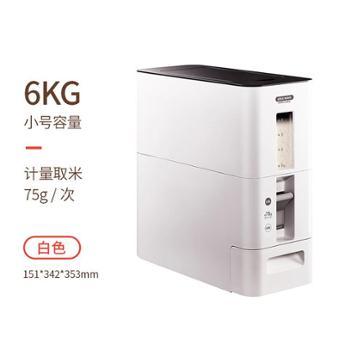 日本Asvel计量米桶家用防虫储米箱密封米缸米盒子6kg装米桶