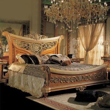 逸邦全实木家具欧式实木床奢华公主床1.8卧室双人床2米大床
