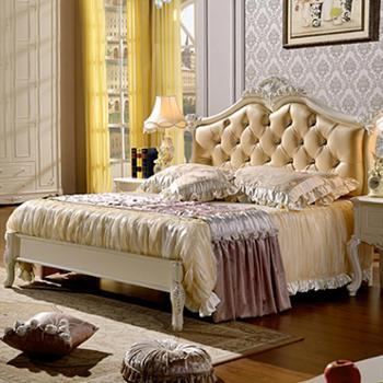 逸邦全实木家具 欧式实木床 1.5米奢华公主床 1.8米婚床