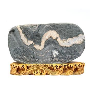 """泰山曲线石雕刻""""鲤鱼跳龙门"""""""