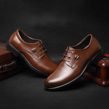 米斯康春款男士休闲鞋真皮皮鞋商务板鞋男鞋子男潮鞋透气休闲男鞋61663