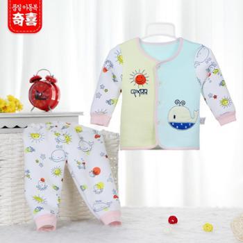 春装新款童装儿童宝宝保暖内衣婴幼儿春秋衣裤长袖休闲男女童套装
