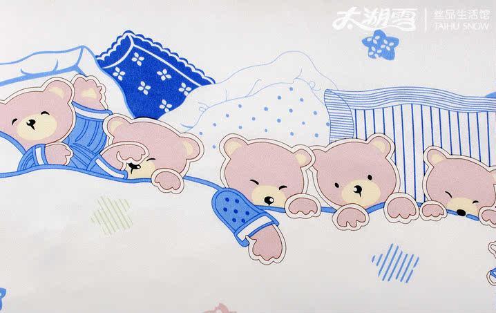 太湖雪 儿童枕头 真丝枕套 宝宝枕头套 婴儿夏天床品