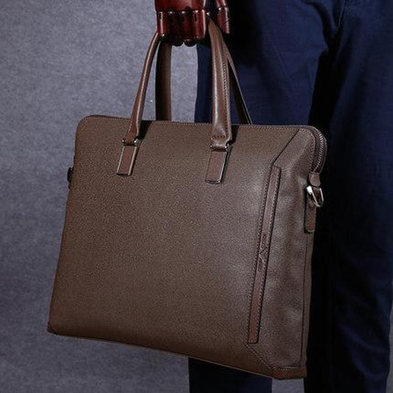 卓梵 阿玛尼男士手提包电脑包单肩包斜挎包 正品男包公文包商务
