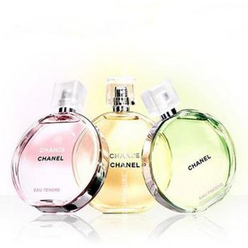 Chanel香奈儿邂逅香水50ml黄/粉/绿邂逅女士淡香水淡香