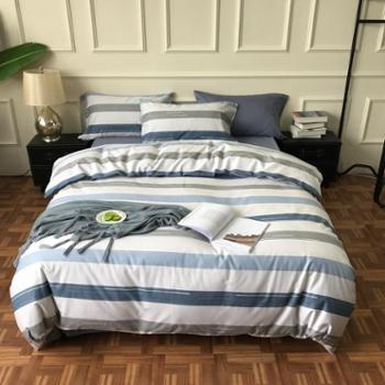 全棉四件套40支印花全棉四件套纯棉简约床单式北欧床上用品
