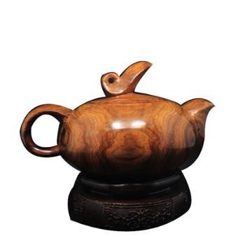龙之礼海南黄花梨老料鬼脸水波纹茶壶茶具海黄实料摆件收藏工艺品