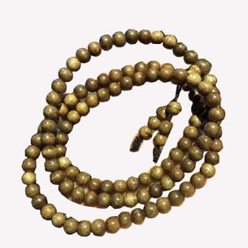 天然沉香佛珠手串0.6cm108颗多层手链木质珠子男女款