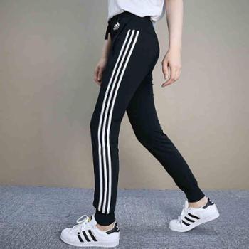 阿迪达斯女裤 新休闲卫裤跑步运动裤宽松针织长裤S97115 SH