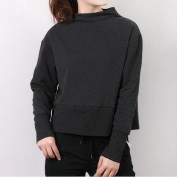 NIKE耐克女装修身短款高领休闲卫衣套头衫BQ0376-032