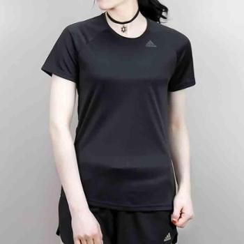 Adidas阿迪达斯女子夏季透气休闲T恤上衣BK2708EH8722EH8723