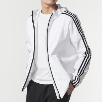 Adidas阿迪达斯2019年新款黑白男装运动休闲透气舒适夹克外套DW4620-FS