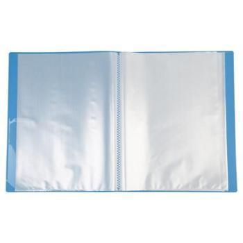 三木CBEA透明活页A4文件夹20页插页袋资料册1个(蓝)