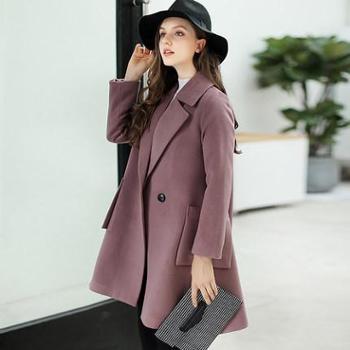 新款时尚潮流呢子大衣保暖呢料