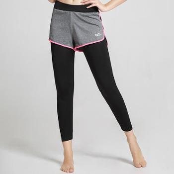埃尔蒙特ALPINT MOUNTAIN运动裤女长裤跑步健身显瘦瑜伽训练假两件紧身裤