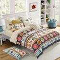 多喜爱条格生态纯棉磨毛四件套秋冬纯棉全棉加厚床单被套