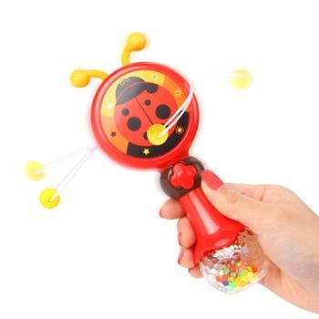 婴儿手摇鼓宝宝昆虫波浪鼓儿童拍拍鼓拨浪鼓可啃咬早教益智玩具