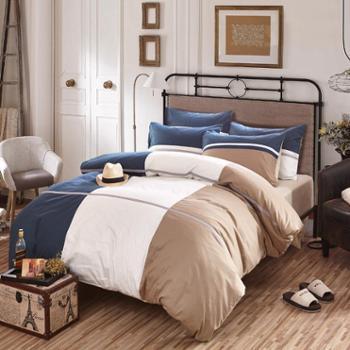 简约全棉活性时尚休闲床单式床上用品纯棉四件套