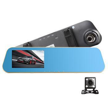 安尼泰科后视镜行车记录仪G20 双镜头红外夜视1080P高清120度广角