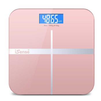 iSense可充电电子称体重秤家用健康人体秤精准成人减肥称重计器准充电款电子称小型可爱体重秤家用小巧人体秤精准成人称重女