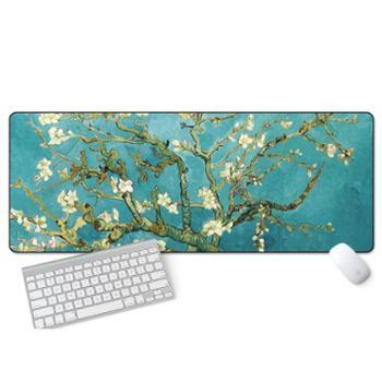 游戏超大鼠标垫锁边中国风加厚可爱兰亭序励志笔记本电脑办公桌垫背面橡胶防滑耐磨精工制作